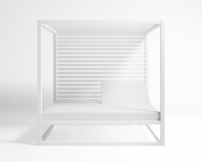Elevated Reclining Daybed With Aluminum Slats