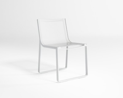Flat Textil Dining Chair without Arms
