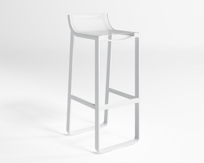 Flat Textil Stool with Backrest