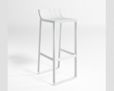 Flat Stool with Back