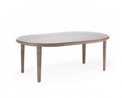 Sudan Oval Dining Table with Glass