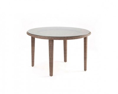 Sudan Round Dining Table with Glass