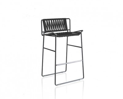 Out_Line Hand-woven Barstool