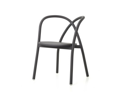 Ming Aluminium Chair with Wood Seat