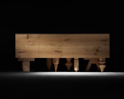 Multileg Cabinet Rustic Oak