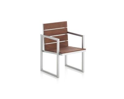 Saler Teak High Backrest Dining Chair