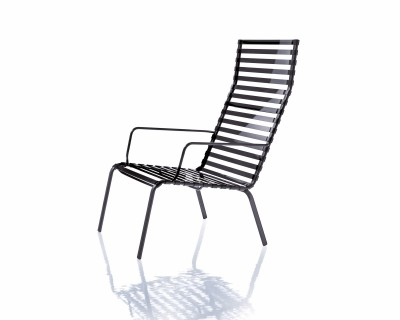 Striped Highback Low Chair