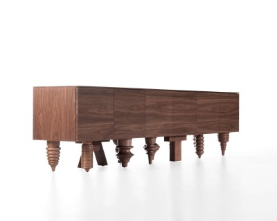 Walnut Multileg Cabinet